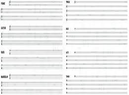Staff Paper Free Staff Musical Notation Manuscript Paper Clef Staff