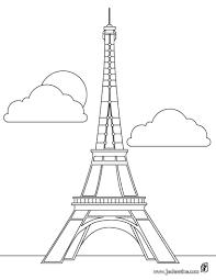 Coloriages Coloriage De La Tour Eiffel Paris Fr Hellokids Com