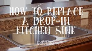 How To Install A Drop In Kitchen Sink Youtube