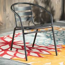 outdoor metal chair. Patio Dining Chairs Outdoor Metal Chair