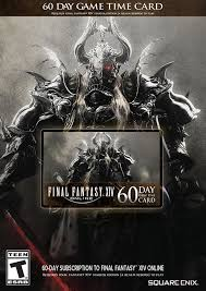 Timecard Ca Final Fantasy Xiv 60 Day Game Time Card Ebgames Ca