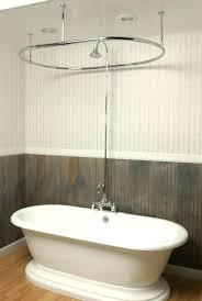 inspiring bathtub shower curtain shower curtain rail for freestanding bath shower curtain rail for freestanding bath