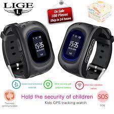 <b>LIGE 2019 New Kids</b> Watch Smart Watch For Children SOS Call ...