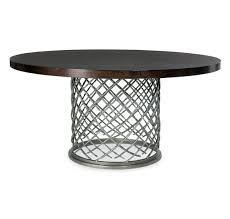 Metal Top Dining Tables Hallam Metal Dining Table With Wood Top Decor House Miami