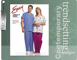 Scrub Patterns Enchanting McCall's 48 Scrub Tops And Bottoms