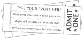 Microsoft Word Ticket Templates Free Printable Event Ticket Templates Blank Template Microsoft Word