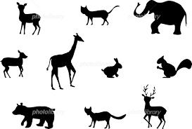 動物 シルエット セット イラスト素材 6023711 フォトライブラリー