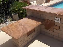 brown outdoor kitchen countertops