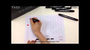 Touch Marker Chart Shinhan Art Touch Twin Marker_make Your Own Touch Color Chart