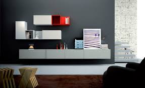 ... Decorations Living Room Unit Cute Suspended Wall Unit For Living Room  With Red ...