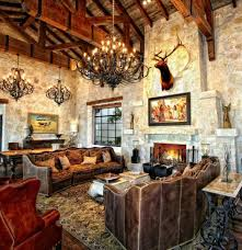 Southwestern Living Room Furniture Living Room Design With Stone Fireplace Patio Outdoor