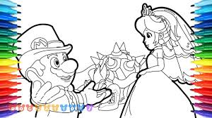 How to color disney's princess peach toadstool fro nintendo's super mario. How To Draw Mario Odyssey Mario Princess Peach 28 Drawing Coloring Pages For Kids Youtube