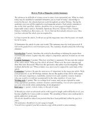 best photos of article summary example article summaries  how to write a summary of an article example