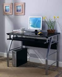 glass metal desk glasetal computer desk glasetal home office computer silver finish glass metal desk