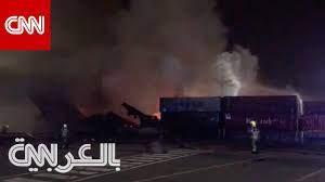 شاهد.. اللحظات الأولى بعد وقوع انفجار بميناء جبل علي في دبي - YouTube