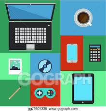 trendy office supplies. Flat Design Icons Set Modern Style Vector Illustration Of Trendy Everyday  Objects, Office Supplies And Business Items For Daily Usage, Designer Workflow