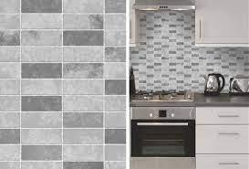 Fine Decor Grey Stone Tile Effect ...