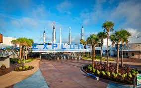 kennedy space center kennedy s famous space exploration speech is played over loud speakers as you glance at the rocket garden an outdoor display of the historic rockets that