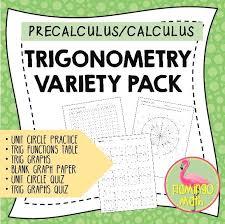 Trigonometry Variety Pack Precalculus Unit 4