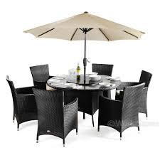 round patio table for 6 rattan round 6 chairs patio furniture set