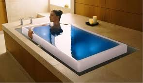 2 Two Person Indoor Whirlpool Massage Hydrotherapy White Bathtub Tub with  BLUETOOTH, FREE Remote Control