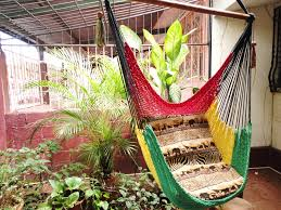 Rasta Bedroom Decor Red Yellow And Green Rasta Sitting Hammock Hanging Chair