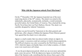why did the ese attack pearl harbour a level history  document image preview