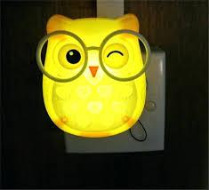 kids owl lamp kids owl lamp cute cartoon owl led mini night light auto control led