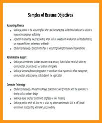 Sample Career Objective In Resume Sample Job Objective Career