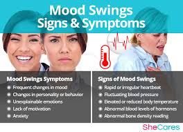Woman's sexual hormones and mood swings