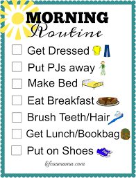 Free Morning Routine Chart Pictures Free Printable School Routine Checklists