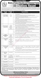 vacancies in ministry of federal education and professional vacancies in ministry of federal education and professional training 2015 application form