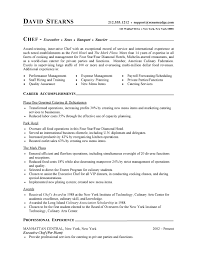 resume for chef position