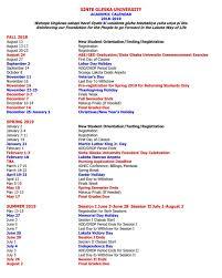 Sgu Academic Calendar 2020calendartemplates Com