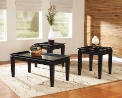 Beautiful Black Tray Coffee Table Set Design Ideas