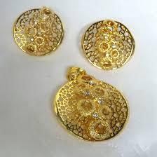 latest design gold plated fashion earring pendant jewellery set prestigeapplause jewels