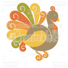 Printable pdf assembly instructions for layering paper piecings. Cute Thanksgiving Turkey Free Cutting File Clipart
