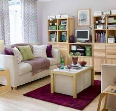 Wooden Furniture For Living Room Wooden Furniture And Purple Rug For Exciting Small Living Room