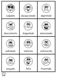 Small Picture FUN adjectives feelings or emotions in Spanish activity set with
