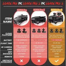Flycam SG906 Max, SG906 Pro 3, Camera 4K UHD + EVO, Gimbal chống rung EIS 3  trục, Cảm biến Tránh chướng ngại vật - Đồ chơi điều khiển