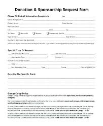 Donation Form Example Sample Donation Request Forms Word
