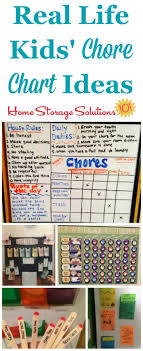 Daily Chore Chart Ideas Create Kids Chore Chart To Get Whole Family Involved In