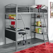 twin metal loft bed with desk we furniture premium dinsmore black twin metal loft bed with