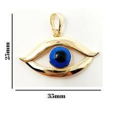 evil eye connector pendant cubic