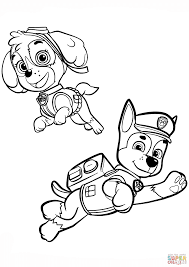 Chase Paw Patrol Coloring Pages Free Chase Coloring Page Chase
