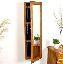 mirror armoire over door jewelry armoire captivating