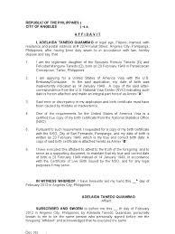 Affidavit Of Discrepancy Date Of Good No Birth Certificate Affidavit