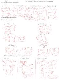 algebra 2 solving logarithmic equations worksheet best of 50