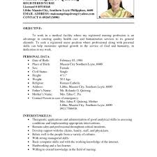 Resume For Job Examples Examples Of Resumes Blank Resume Format For Job Application Pdf 23