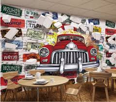 Custom photo mural 3d wallpaper vintage car license plate picture  decoration painting 3d wall murals wallpaper for living room-in Wallpapers  from Home ...